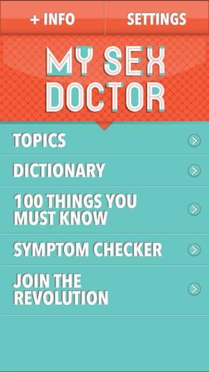 MySexDoctor app screenshot