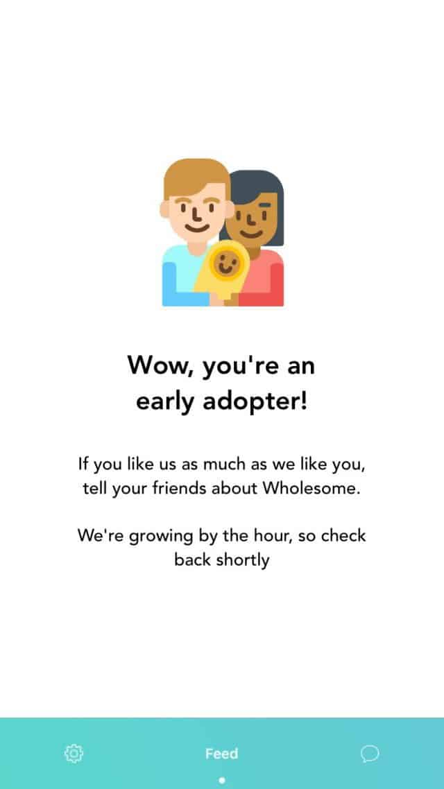Wholesome Dating app early adopter