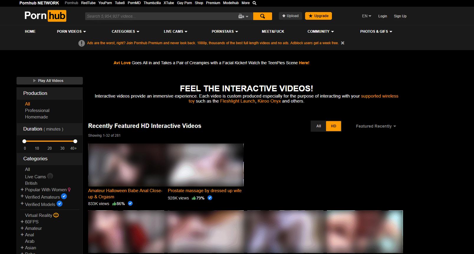Pornhub Interactive - Best Interactive Porn Sites